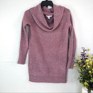 Motherhood Maternity cowl neck mauve pink sweater